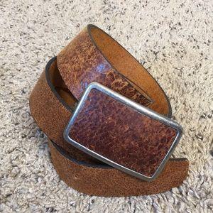 "Genuine Leather Belt Brown 32""-37"""